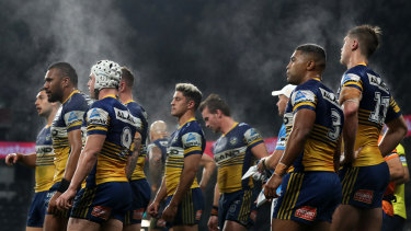 Parramatta during their win against the Panthers on Friday night.