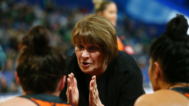 Frustrated Giants coach Julie Fitzgerald.