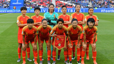 The Chinese national team at last year's FIFA Women's World Cup in France.