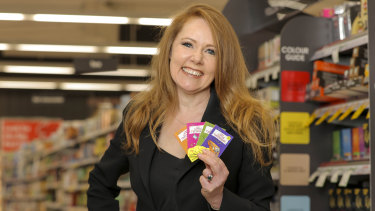 Coles chief marketing officer Lisa Ronson with the new collectible books.
