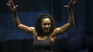 Gabrielle McClinton in rehearsals for Pippin which opens in Sydney next month.