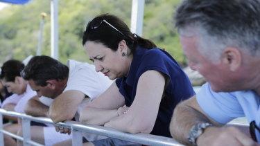 Premier Annastacia Palaszczuk makes a campaign stop on Fitzroy Island.