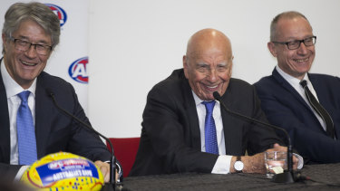 "Rupert Murdoch's famous AFL broadcast rights press conference, where he said: ""We've always preferred Aussie rules"" in an apparent shot at the NRL."
