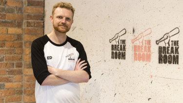 "Ed Hunter, owner of Melbourne's ""rage room"", The Break Room."