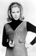 "Honor Blackman as ""Bond Girl"" Pussy Galore pictured in 1964."