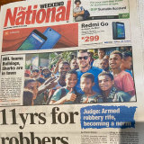 A beaming Josh Dugan popped up on the front page of the local Papua New Guinean newspaper.