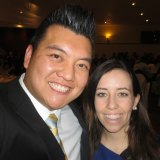 Kenrick Cheah and NSW Labor general secretary Kaila Murnain in a photo from Cheah's Facebook page in August 2013.