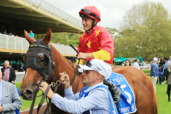 Prime Star and Tom Marquand return to scale after winning the Inglis Millennium last year.