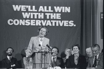 Thatcher as a candidate for the top job in 1979.
