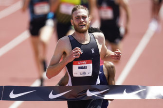 Olli Hoare has been running in the US.