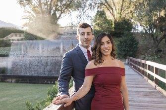 Perth couple Marissa Barbaro and Jason Milici.