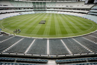 The unfamiliar sight of an empty MCG may sadly become familiar this year.