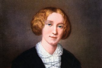 George Eliot, aged about 30, in a painting by Swiss artist Francois D'Albert Durade.