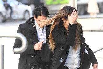 Alvaro (left) and Josie Gonzalez arrive to the County Court in June.