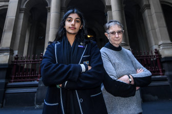Anjali Sharma and her litigation guardian Sister Brigid Arthur.