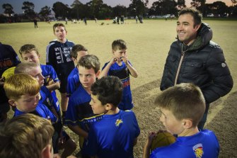 Brad Scott fielded questions from the young 'Marby Park' Lions.