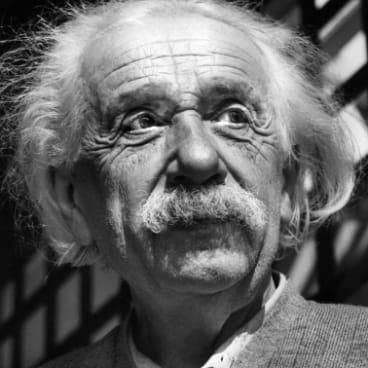 Albert Einstein's idea that this space creates its energy.
