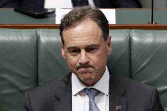 Minister for Health Greg Hunt during Question Time at Parliament House.