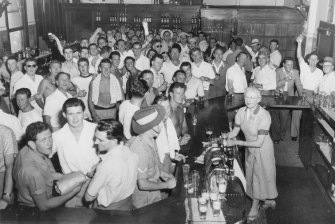 Action packed: The Bondi Hotel during the 1940s.