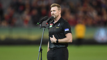 Nathan Buckley called out the booing on-field after the match.
