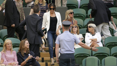 Meghan wore jeans to the Royal Box, which has a strict 'smart' dress code.
