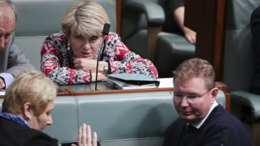 Julie Bishop appears to have changed her mind on quotas.