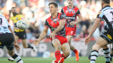 Playmaker: a Ben Hunt field goal gave the Dragons the half-time lead but it was all downhill from there for Paul McGregor's side.