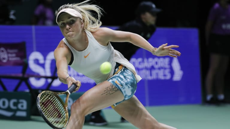 Elina Svitolina proved too much for Petra Kvitova at the WTA Finals.