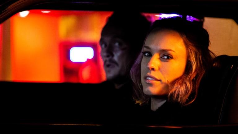 Not so much serenity in Serenity Crossing: Jessica McNamee and Ben Geurens shoot Locusts in Broken Hill.
