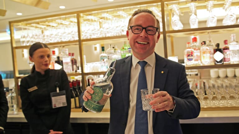 Qantas CEO Alan Joyce in the airline's London lounge. The Chairman\'s Lounge is even more exclusive.