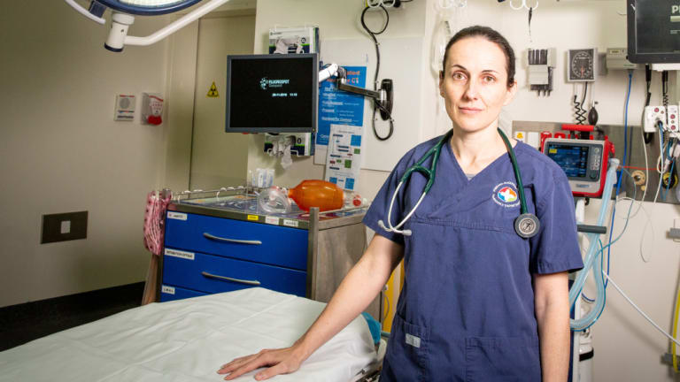 Toxicologist Dr Katherine Isoardi at Princess Alexandra Hospital in Brisbane.