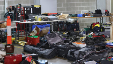 Property allegedly stolen and stored in the Pyrmont apartment building.