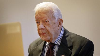 Brain bleeding forces former US president Jimmy Carter into hospital