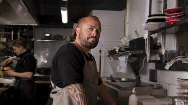 """Cronulla café owner Doug Opai says his business has been """"treading water."""