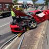 Ferrari trashed in two-vehicle Brisbane crash