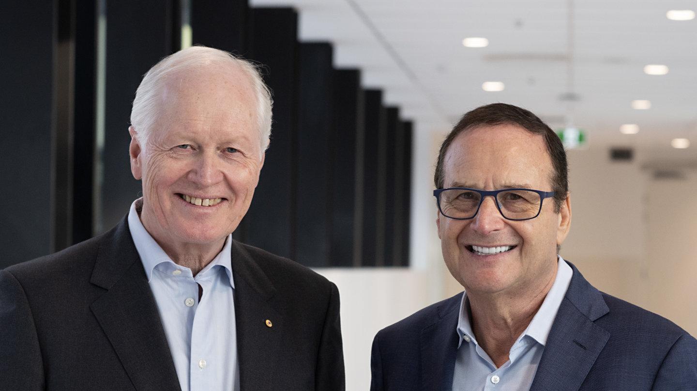 Professors Geoffrey Donnan (left) and Stephen Davis.
