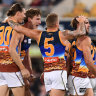 Brisbane eye finals berth after gallant defeat of Hawthorn