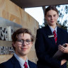 Rose Bay Secondary College co-captains Hattie Shand and Hordur Zoega