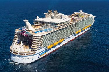 Symphony of the Seas Royal Caribbean International Symphony of the Seas, world's largest cruise ship. Jpg version