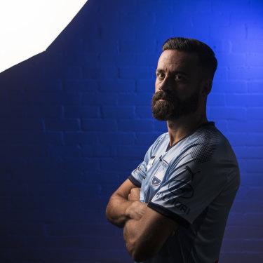True blue: Sydney FC captain Alex Brosque.