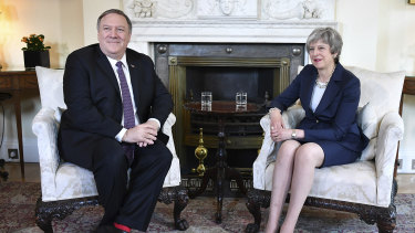 US Secretary of State Mike Pompeo meets with Britain's Prime Minister Theresa May as tensions with Iran rise.