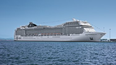 MSC Magnifica, which is steaming into Fremantle tonight or tomorrow.