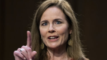Amy Coney Barrett, Trump's pick for the Supreme Court, is almost certain to be confirmed.