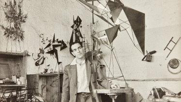 Klippel in his workshop in Potts Point, Sydney, in 1957.