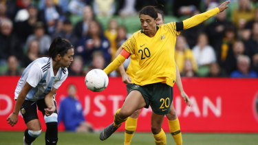 Sam Kerr wants to score her first World Cup goal in her third appearance at the tournament.