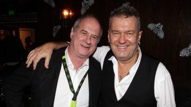 Michael Gudinski with Jimmy Barnes in Sydney in 2013.