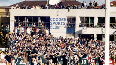 Vintage: Fans flock to Coogee Oval to watch Randwick take on the All Blacks in 1988.