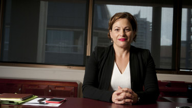 Jackie Trad in 2015, just weeks after she became deputy premier.