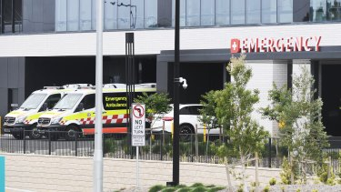 The Emergency Dept at the new Northern Beaches Hospital.