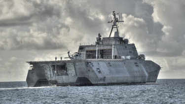 A Littoral combat ship built by Austal for the US Navy.